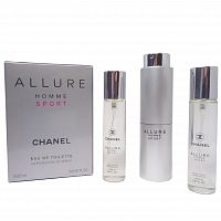 Набор духов 3х20мл Chanel Allure Homme Sport Edt
