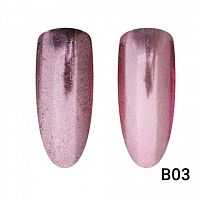 Втирка для ногтей Global Fashion, Mirror Rose Gold B03