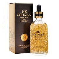 Сыворотка-элексир с частичками золота - 24K GOLDZAN AMPOULE 99,9% PURE GOLD, 100мл