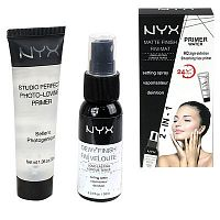 Nyx 2-in-1 Dewy Finish 30 ml + Photo-Loving Primer 30 ml