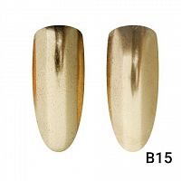 Втирка для ногтей Global Fashion, Champagne Mirror Gold B15