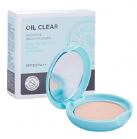 Компактная пудра The Face Shop Oil Clear Smooth&Bright Pact SPF30 N203